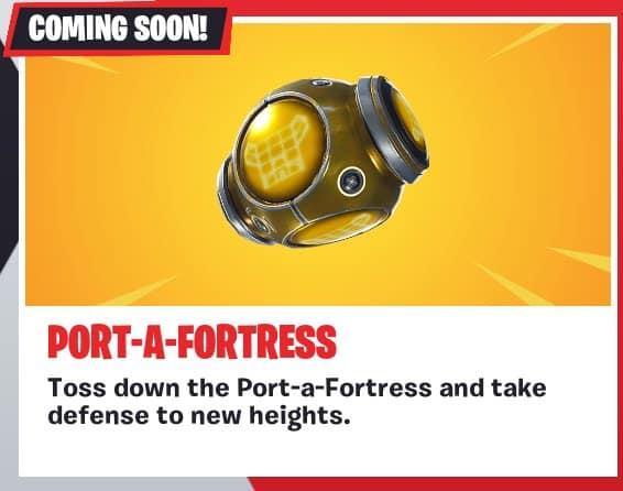 Скоро в Fortnite: порт-крепость