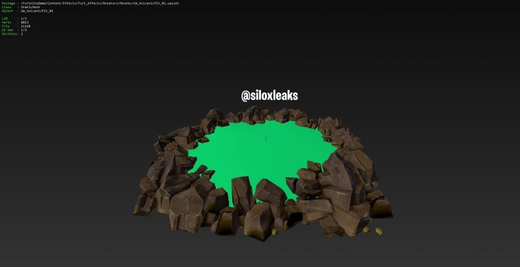 Вулканическая яма в 6 сезоне Fortnite