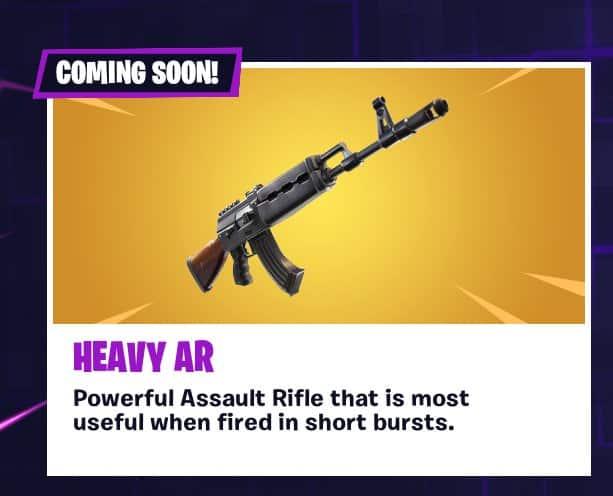 Скоро в Fortnite: тяжелая штурмовая винтовка