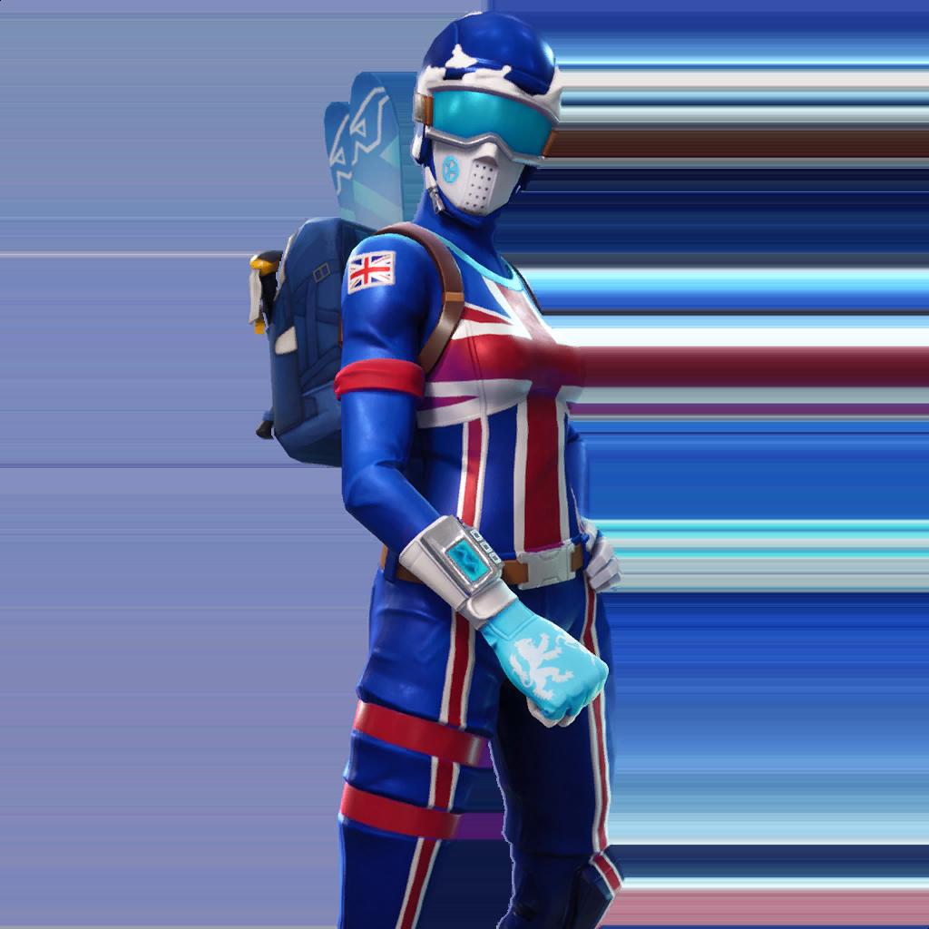 Английская горнолыжница скин фортнайт